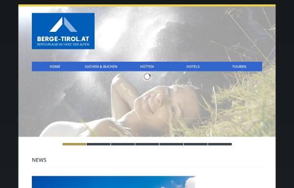 Vorschau von www.berge-tirol.at, Bergurlaub in Tirol und Südtirol