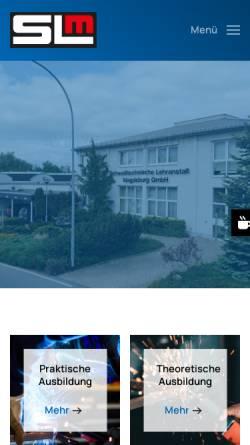 Vorschau der mobilen Webseite www.sl-magdeburg.de, Schweißtechnische Lehranstalt Magdeburg GmbH