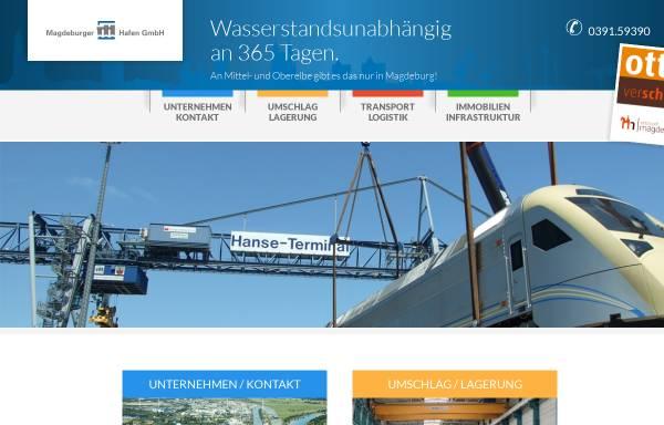 Vorschau von www.magdeburg-hafen.de, Magdeburger Hafen GmbH