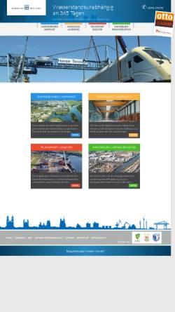 Vorschau der mobilen Webseite www.magdeburg-hafen.de, Magdeburger Hafen GmbH