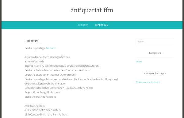 Vorschau von www.antiquariat-ffm.de, Autorenlinks im Internet
