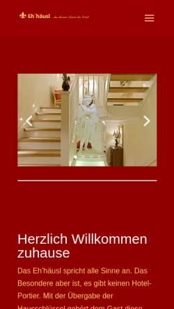 Vorschau der mobilen Webseite www.ehehaeusl.de, Eh'häusl Amberg