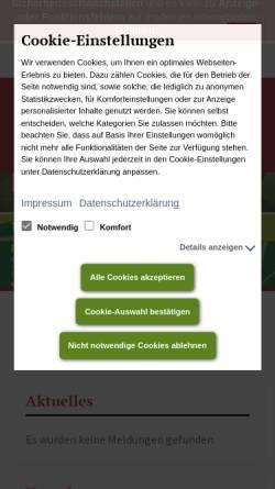 Vorschau der mobilen Webseite www.sv-sueptitz.de, Sportverein SV Süptitz