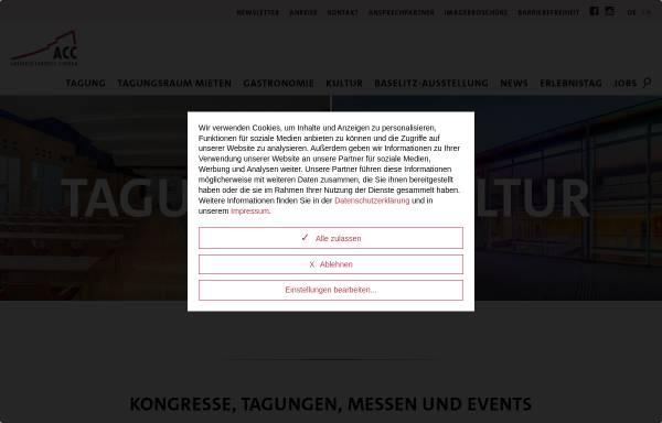 Vorschau von www.acc-amberg.de, Amberger Congress Centrum