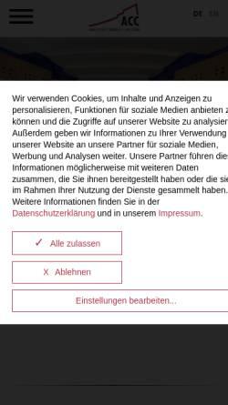 Vorschau der mobilen Webseite www.acc-amberg.de, Amberger Congress Centrum