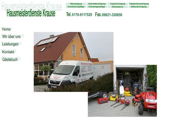 Vorschau von www.hausmeisterdienste-krause.de, Hausmeisterdienste Krause