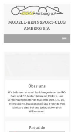 Vorschau der mobilen Webseite www.mrsc-amberg.de, MRSC-Amberg e.V.