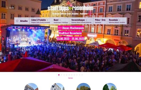 Vorschau von www.cityguide-rosenheim.de, Cityguide Rosenheim