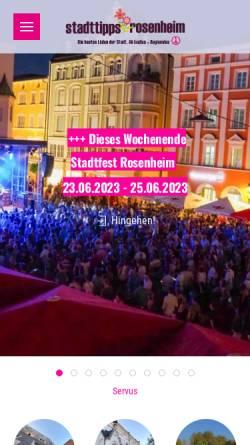 Vorschau der mobilen Webseite www.cityguide-rosenheim.de, Cityguide Rosenheim