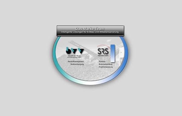 Vorschau von www.bvv-srs.de, Baustoff Vermittlung und Verwertung GmbH, SRS Deponiebau GmbH