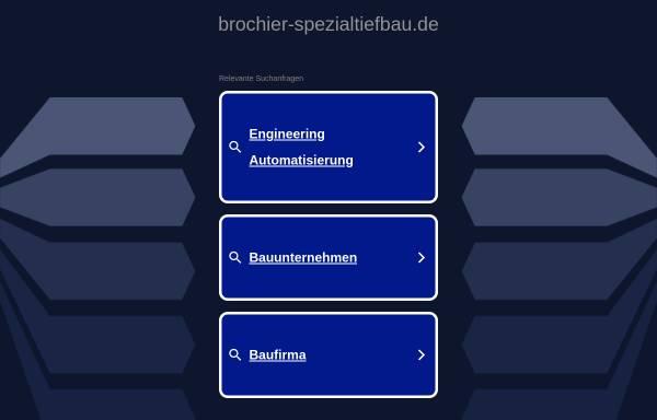 Vorschau von www.brochier-spezialtiefbau.de, Brochier Spezialtiefbau GmbH