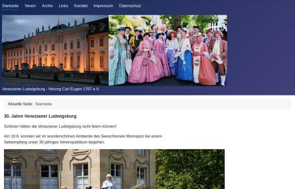 Vorschau von www.venezianer-ludwigsburg.de, Bürgerverein zur Pflege barocker Festkultur