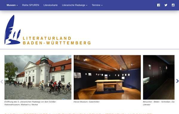 Vorschau von www.literaturland-bw.de, Literaturland Baden-Württemberg