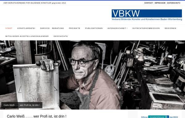 Vorschau von www.vbkw.de, Verband Bildender Künstler und Künstlerinnen Württemberg