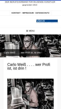 Vorschau der mobilen Webseite www.vbkw.de, Verband Bildender Künstler und Künstlerinnen Württemberg