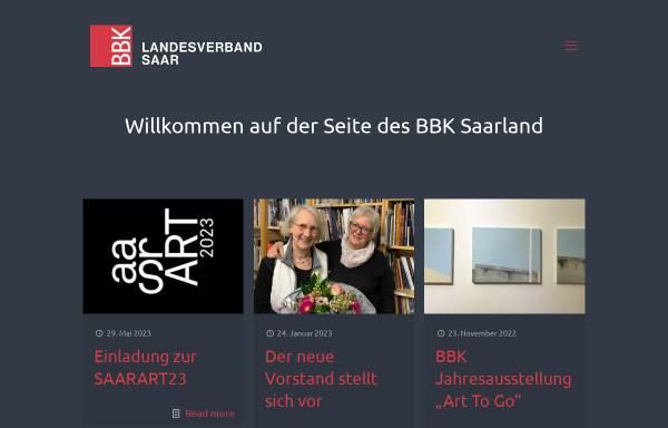 Vorschau von www.bbk-saarland.de, BBK Bundesverband Bildender Künstlerinnen und Künstler Landesverband e.V.