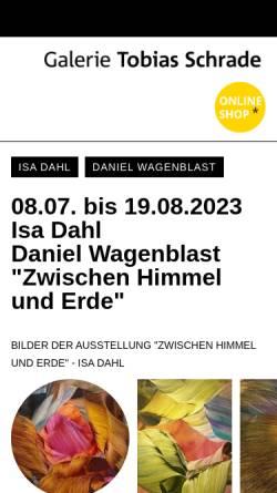 Vorschau der mobilen Webseite www.galerie-tobias-schrade.de, Galerie auf der Insel