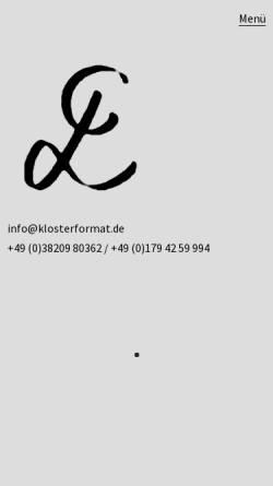 Vorschau der mobilen Webseite www.klosterformat.de, Galerie Klosterformat
