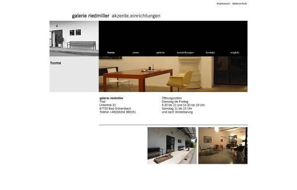 Vorschau von www.galerie-riedmiller.de, Galerie Riedmiller