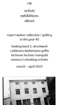 Vorschau der mobilen Webseite rupertwalser.com, Galerie Rupert Walser