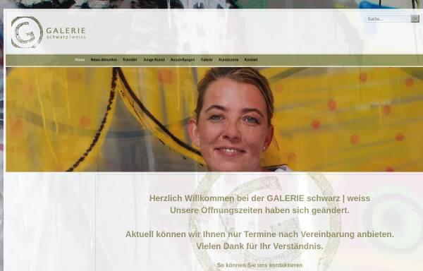 Vorschau von www.galerie-schwarz-weiss.de, Galerie schwarz | weiss