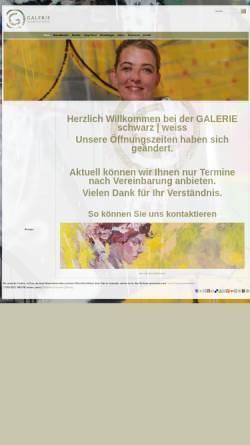 Vorschau der mobilen Webseite www.galerie-schwarz-weiss.de, Galerie schwarz | weiss