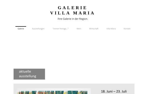 Vorschau von galerie-villa-maria.de, Galerie Villa Maria