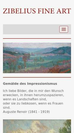 Vorschau der mobilen Webseite www.galerie-hannover.de, Galerie Zibelius
