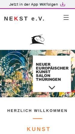 Vorschau der mobilen Webseite www.kunsthaus-meiningen.de, Kunsthaus - Meiningen