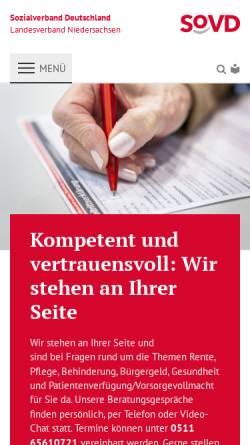 Vorschau der mobilen Webseite www.sovd-galerie.de, Sozialverband Deutschland: SoVD - Galerie in Bad Sachsa