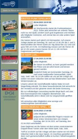 Vorschau der mobilen Webseite www.ltc1990.de, Leipziger Tennisclub 1990 e.V.