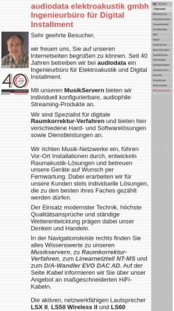 Vorschau der mobilen Webseite www.audiodata.de, Audiodata GmbH