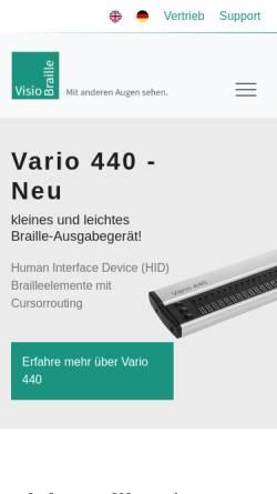 Vorschau der mobilen Webseite www.baum.de, BAUM Retec AG