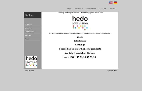 Vorschau von www.hedo.de, hedo Reha-Technik GmbH