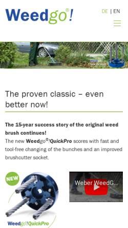 Vorschau der mobilen Webseite www.weed-go.com, Weed-Go