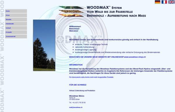 Vorschau von www.woodmax.ch, Woodmax-System Stückholz Aufbereitung
