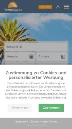 Vorschau der mobilen Webseite www.ferienhaus-urlaube.de, Ferienhaus-Urlaube.de [Alexander Drechsel ]