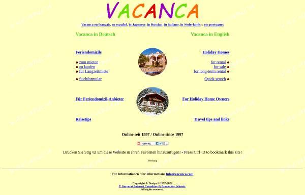 Vorschau von www.vacanca.ch, Vacanca.ch