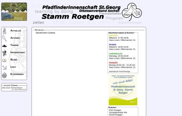 Vorschau von www.psg-roetgen.de, Pfadfindergemeinschaft St. Georg (PSG)