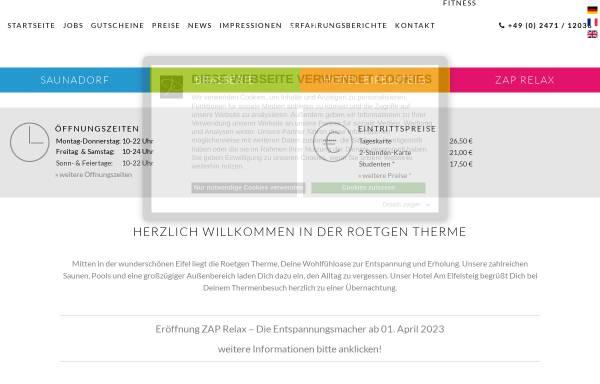 Vorschau von www.roetgen-therme.de, Roetgen Therme GmbH