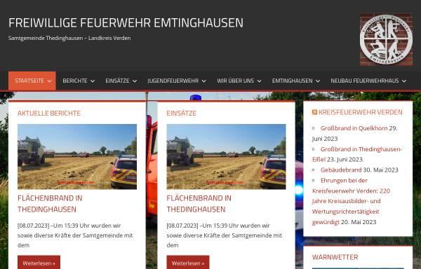 Vorschau von www.feuerwehr-emtinghausen.de, Freiwillige Feuerwehr Emtinghausen