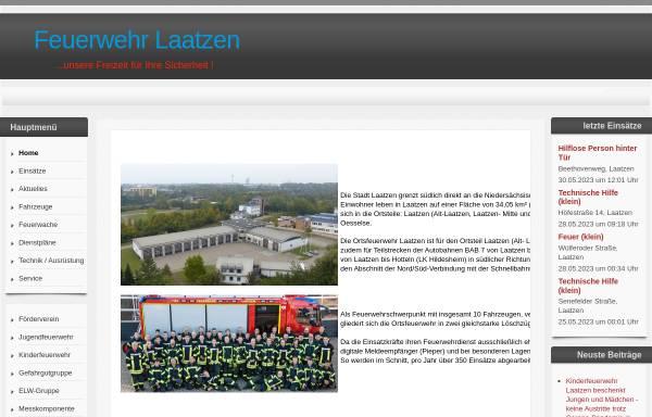 Vorschau von www.fw-laatzen.de, Freiwillige Feuerwehr Laatzen