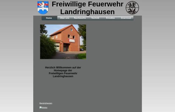 Vorschau von www.ffw-landringhausen.de, Freiwillige Feuerwehr Landringhausen