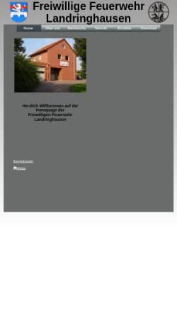 Vorschau der mobilen Webseite www.ffw-landringhausen.de, Freiwillige Feuerwehr Landringhausen