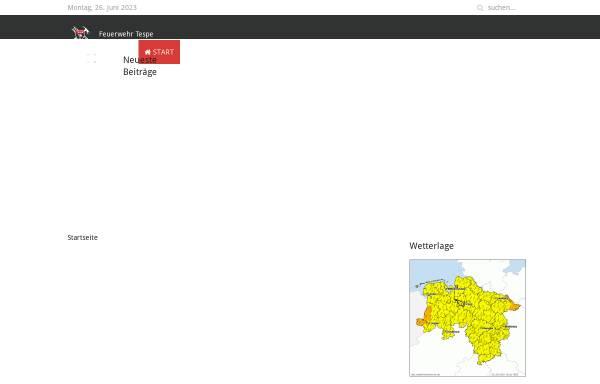 Vorschau von www.feuerwehr-tespe.de, Freiwillige Feuerwehr Tespe
