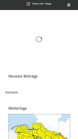 Vorschau der mobilen Webseite www.feuerwehr-tespe.de, Freiwillige Feuerwehr Tespe