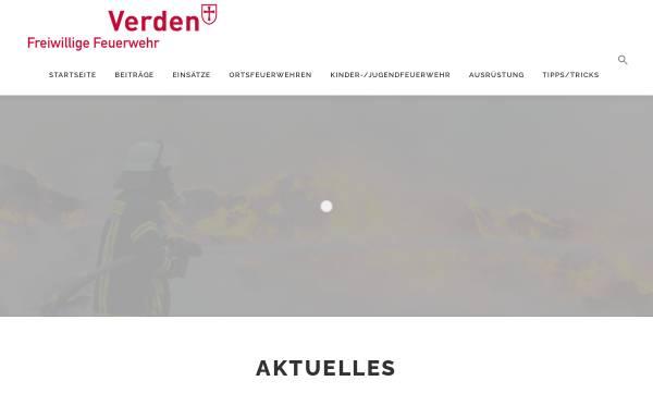 Vorschau von www.feuerwehr-verden.de, Freiwillige Feuerwehr Verden (Aller)