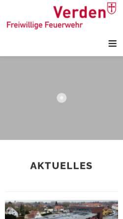 Vorschau der mobilen Webseite www.feuerwehr-verden.de, Freiwillige Feuerwehr Verden (Aller)