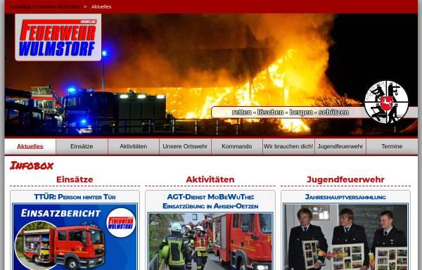 Vorschau von www.feuerwehr-wulmstorf.de, Freiwillige Feuerwehr Wulmstorf