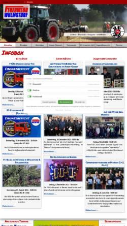 Vorschau der mobilen Webseite www.feuerwehr-wulmstorf.de, Freiwillige Feuerwehr Wulmstorf